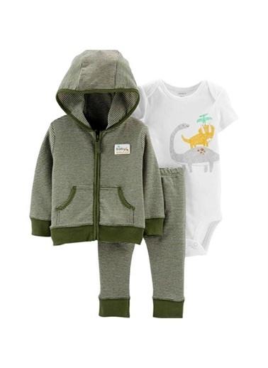 Carters Carter'S Dinozor 3'Lü Bebek Takımı Yeşil